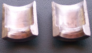 Inside surface of brakepads