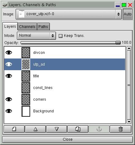 gimp how to get layer toolbar back