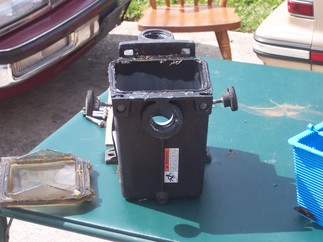 Front of pump basket, with screen removed