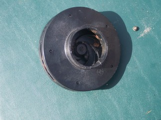 Clogged impeller, front view