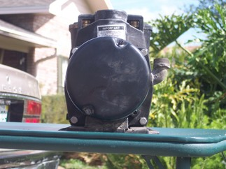 Back of pump assembly