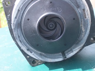 Closeup of front of impeller